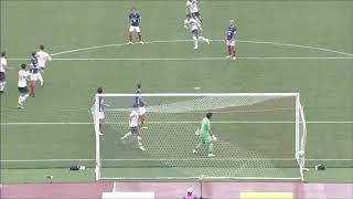 右CKからゴール前中央のチャン ヒョンス(FC東京)がマークを外してヘデ...