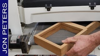 Making Picture Frames from old Cherry wood flooring
