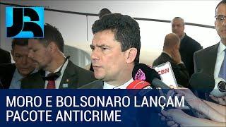 Moro e Bolsonaro defendem excludente de ilicitude em lançamento do pacote anticrime
