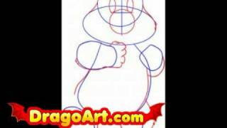 How to draw a Care bear, step by step