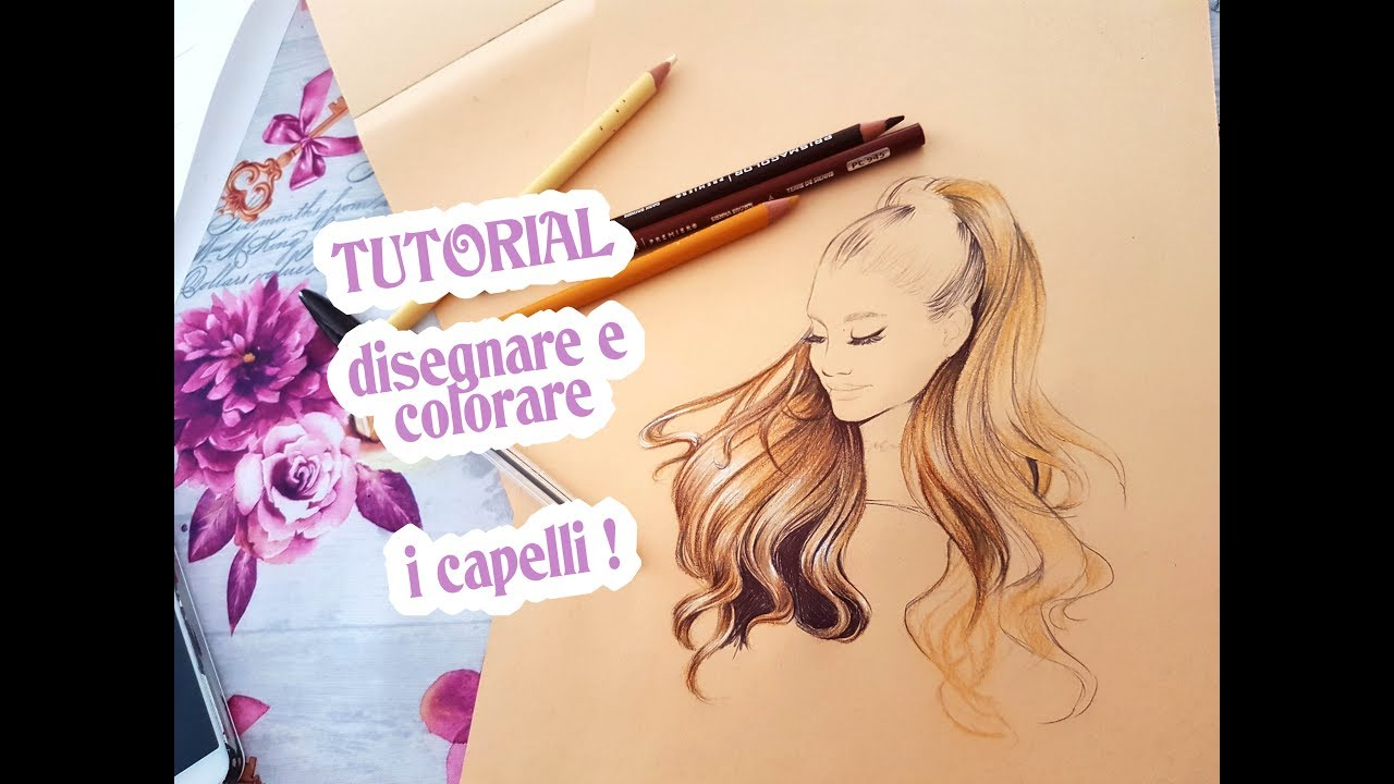 Tutorial Angenioso Disegnare E Colorare I Capelli Youtube