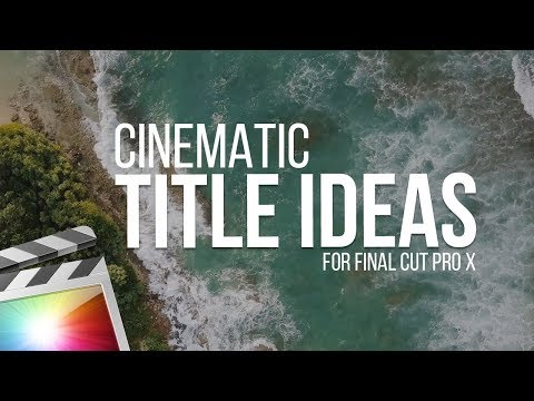 Cinematic 3D Title Effects For Final Cut Pro X - YouTube