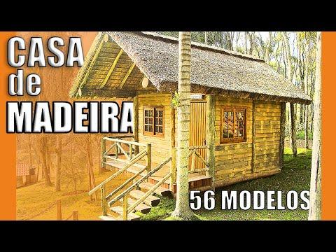 ✅ CASA DE MADEIRA Com EUCALIPTO TRATADO (56 Modelos) - Construções Rústicas