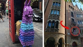 REAL LIFE FORTNITE LLAMAS FOUND IN EUROPE (Londres, Allemagne, Pologne....