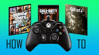 GTA V and PC Games with Xbox One Controller Gameplay and How To