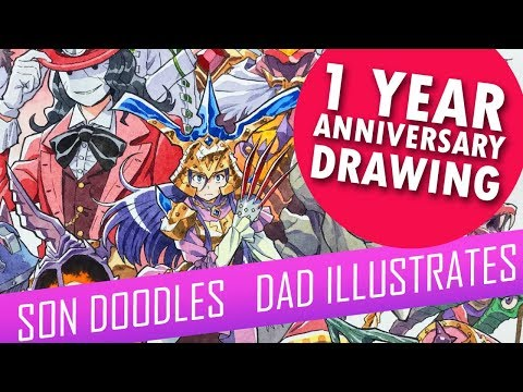 Drawing with my kids - 1 YEAR ANNIVERSARY WATERCOLOR [FULL VERSION] thumbnail
