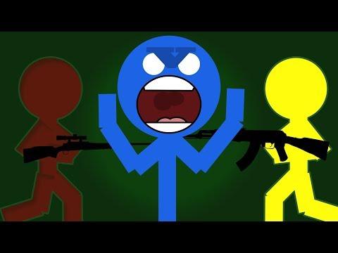 VEM ÄR OSYNLIG!!!??? | Stick Fight feat. Polski