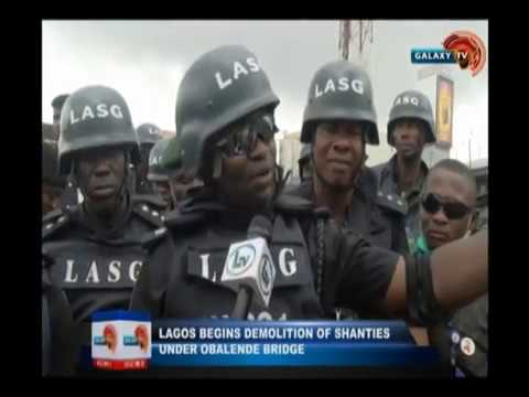 News @ 10 - Lagos begins demolition of shanties under obalende bridge
