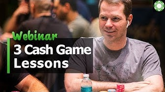 3 Lessons to CRUSH Small Stakes Cash Games