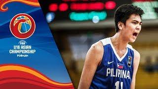 Kai Sotto's (Philippines) incredible double-double performance v Japan - FIBA U16 Asian Championship
