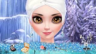 NEW мультик онлайн для девочек—Эльза макияж ангел—Игры для детей