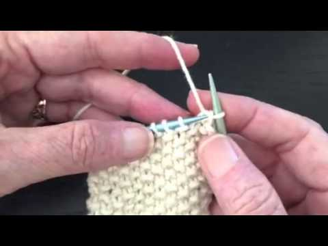 How to Bind Off in Pattern - Seed Stitch - YouTube