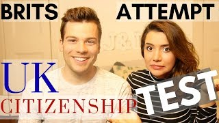 Can British Citizens Pass A UK Citizenship Test? // We Attempt Practise Questions 🙈