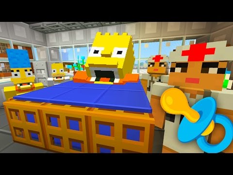 Bart Simpson Gets Pregnant | The Simpsons Minecraft Xbox [45]
