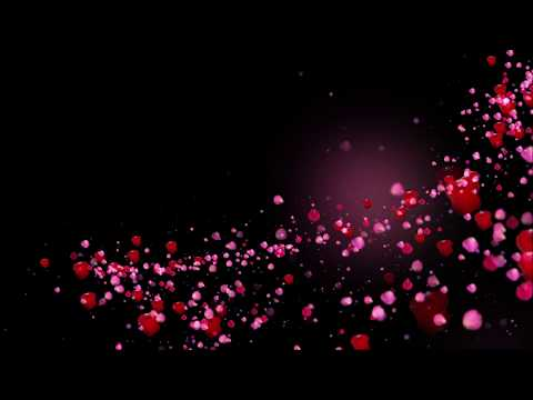 Romantic flying red rose flower petals love heart wedding animated background Hd thumbnail
