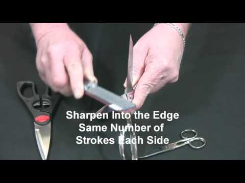 Video of Double Sided Diafold® Sharpener Sharpening Scissors and Shears