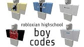 Codes For Boys In Robloxian High School Rbxrocks Robloxian Highschool Boy Codes Youtube