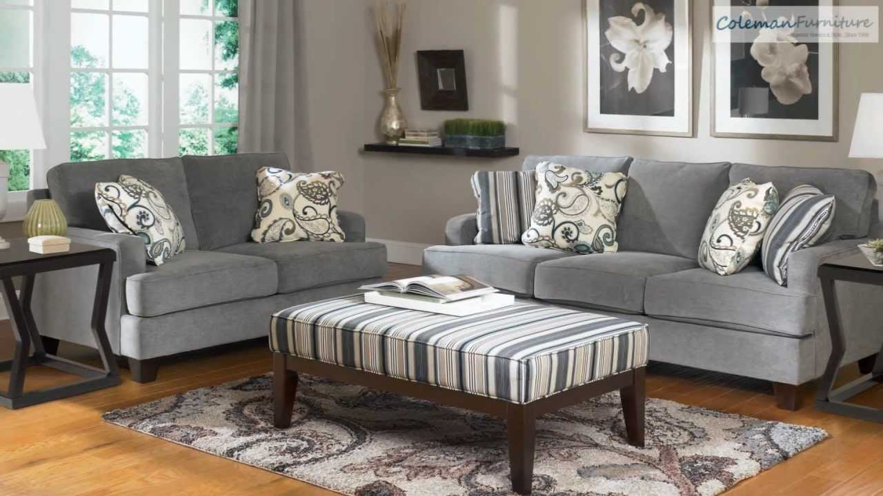 Yvette steel living room collection from signature design by ashley coleman furniture online