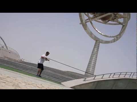 "Qatar, Doha - Aspire Zone. Having a fun workout / ""playout"" outdoors in various locations"