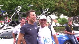Tour de France 2017, 21e étape - Le fan club de Davide Cimolai à Montgeron !