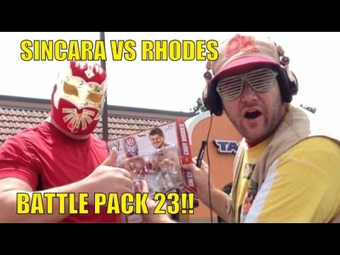 WWE ACTION INSIDER: Sincara vs Cody Rhodes Mattel battle pack series 23 wrestling figures basic toy