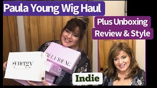 Paula Young Wig Haul Unboxing, Review & Style Indie Wig   Color SF 12/28 Honey
