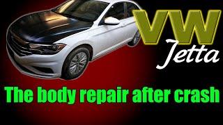 VW Jetta. The body repair. Ремонт кузова.