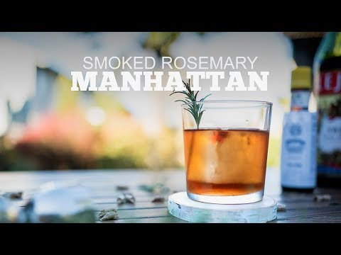 Smoked Rosemary Manhattan