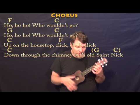 Ukulele ukulele chords up on the housetop : Up on the Housetop - Ukulele Cover Lesson in C with Chords/Lyrics ...