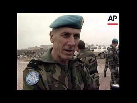 BOSNIA: SARAJEVO: ROAD BETWEEN LUKAVICA AND NEDZARICI REOPENS
