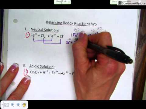 Balancing Redox by the Half-reaction method (neutral solution)