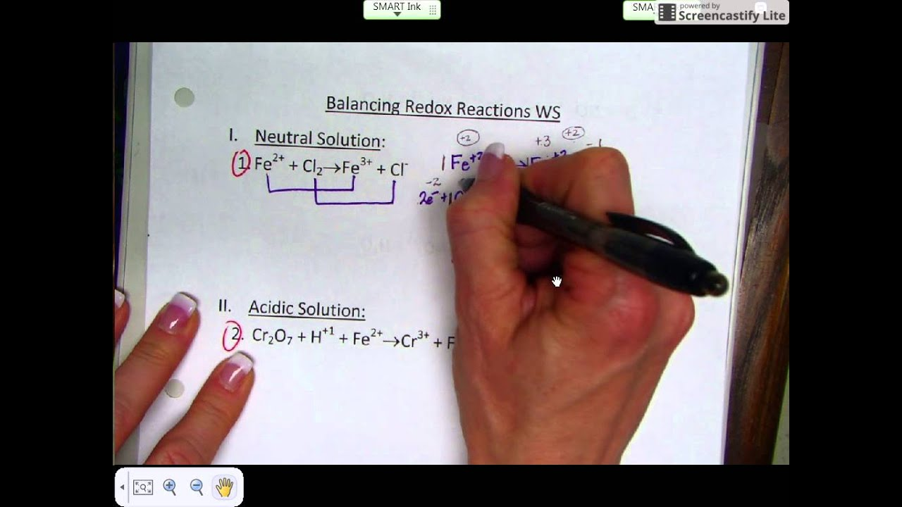 Balancing Redox By The Half Reaction Method Neutral Solution