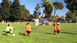first soccer game ayso u6