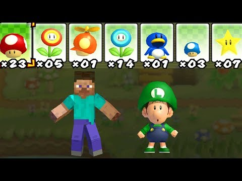 What happens when Steve and Ba Luigi uses Marios PowerUps? 2 Player CoOp