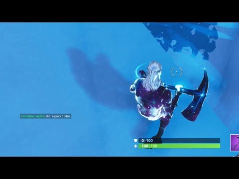 Slide An Ice Puck Over 150m In A Single Throw | Fortnite Season 7 Week 6 Challenges