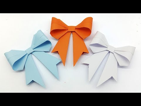 Origami Bow - How to make a Paper Bow easy step by step