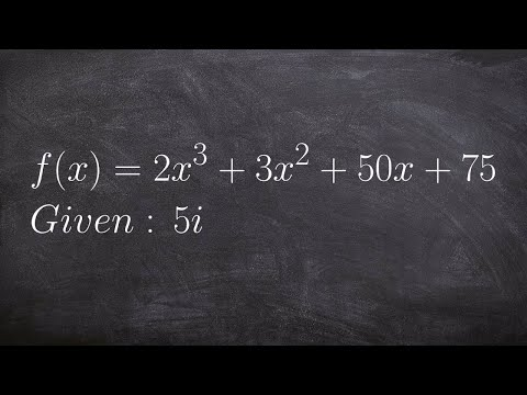 Use Synthetic Division To Find The Remaining Zeros Given One Imaginary Zero