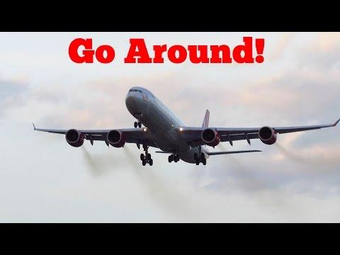 GO AROUND! Virgin Atlantic A340-600 [G-VYOU] Go Around at London Heathrow Airport (LHR) [Full HD]