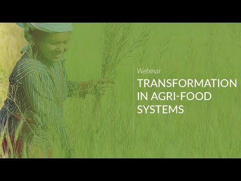 Webinar: Transformation in Agri-Food Systems: Preparing for the Future