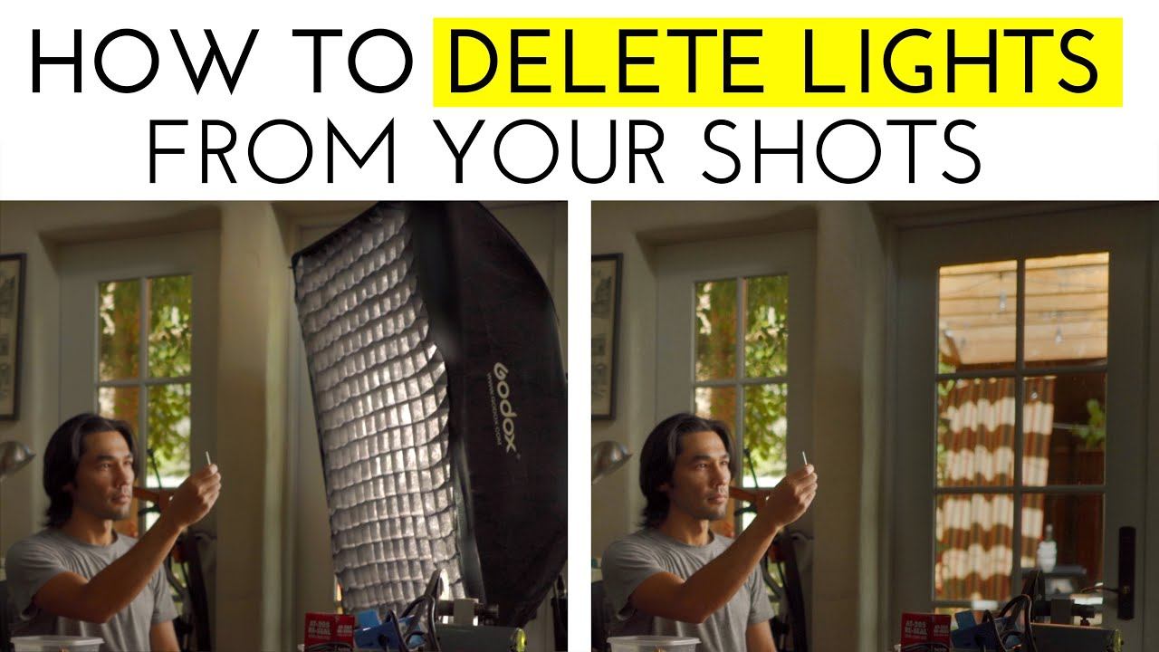 How to Delete Lighting Gear from Your Shots! (Featuring Godox UL150 & LC500R)