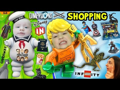 FGTEEV Shopping: Shawn & the Marshmallow Man + Aqua Frog! NEW Disney Infinity & Lego Dimensions!