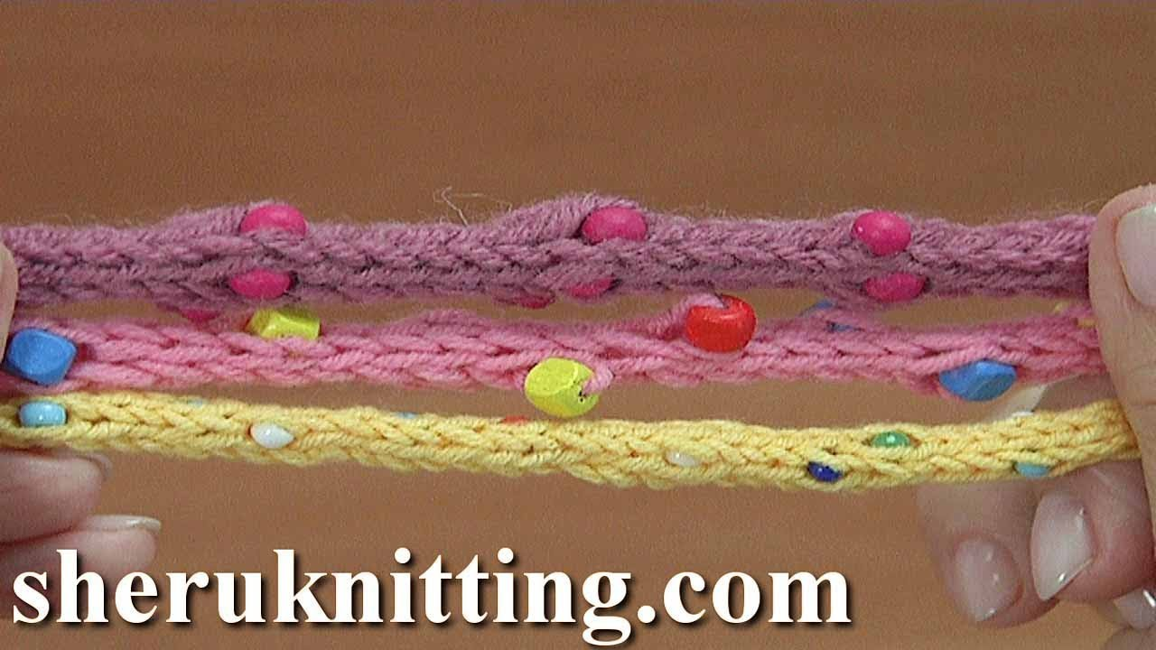 Knitted i cord with beads tutorial 162 youtube knitted i cord with beads tutorial 162 bankloansurffo Gallery