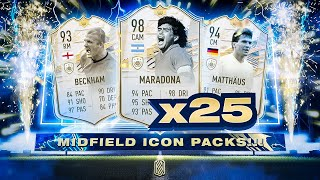 25x MOMENTS/PRIME ICON MIDFIELDER PACKS!!! FIFA 21