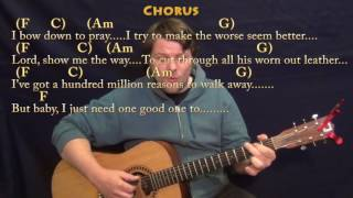 million reasons (lady gaga) fingerstyle guitar cover lesson in c with chords/lyrics
