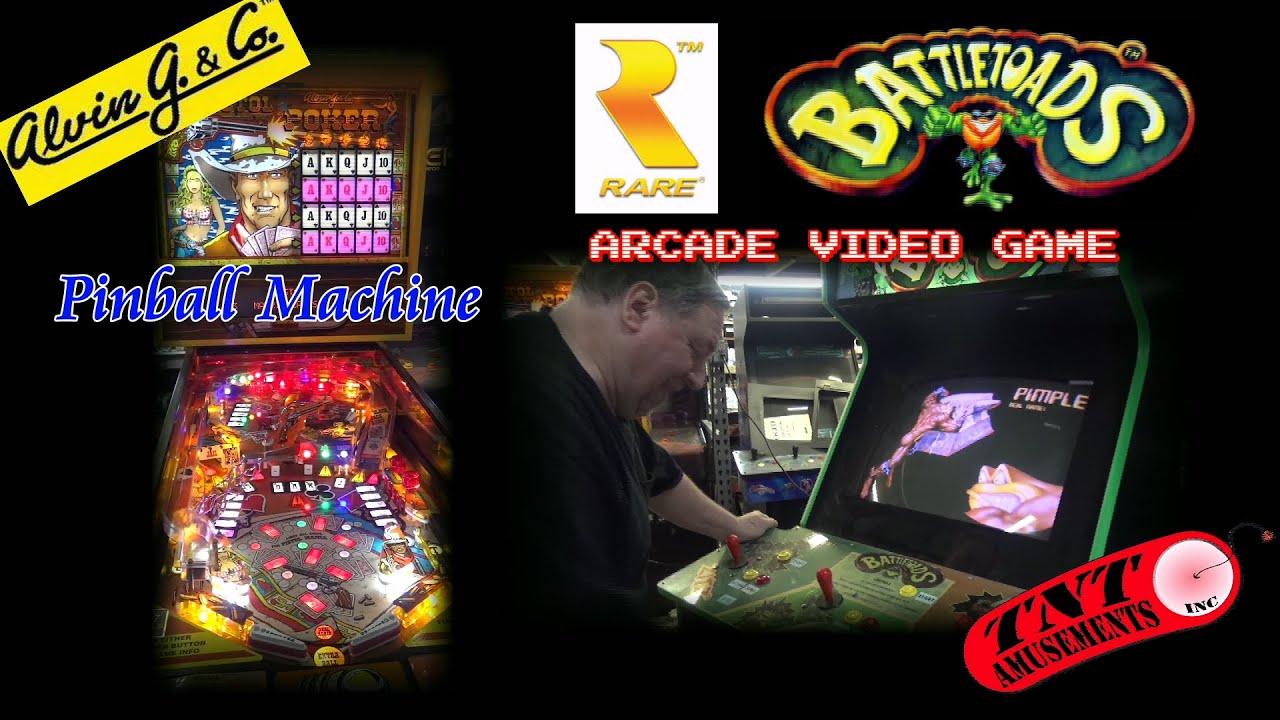 1142 Rare BATTLETOADS Arcade Video Game & Alvin G PISTOL POKER ...