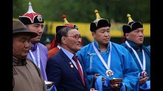 """Дни Увс аймака в Туве, монголо-тувинский хуреш стенка на стенку """"9 vc 9"""""""