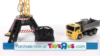 Fast Lane Ultimate Tower Crane And Construction Vehicle Playset   Yellow