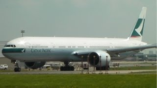 Cathay Pacific 777-300ER [B-KQE] Takeoff in Toronto on RWY 23