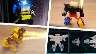 [LEGO Mini Robot Film] LEGO Transformers and Combiners stop motion animation compilation 2