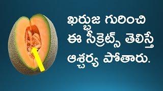 Top Health Secrets Of Muskmelon Fruit I Kabhuja Benefits I Health Tips In Telugu I Telugu Bharathi